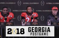 Kirby Smart, Nick Chubb, & Sony Michel speak Georgia's loss to Alabama