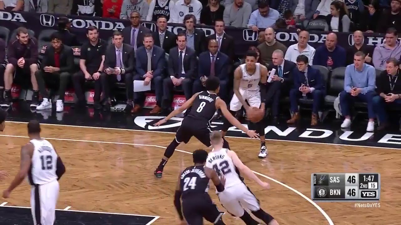 Spurs guard Patty Mills catches fire from downtown