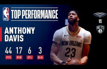 Brooklyn Nets have no answer for Anthony Davis in double overtime defeat