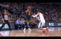 Jamal Murray sends Steven Adams' ankles to another area code