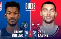 Jimmy Butler and Zach LaVine duke it out in Chicago