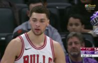 Zach LaVine prints his first poster as a Chicago Bull