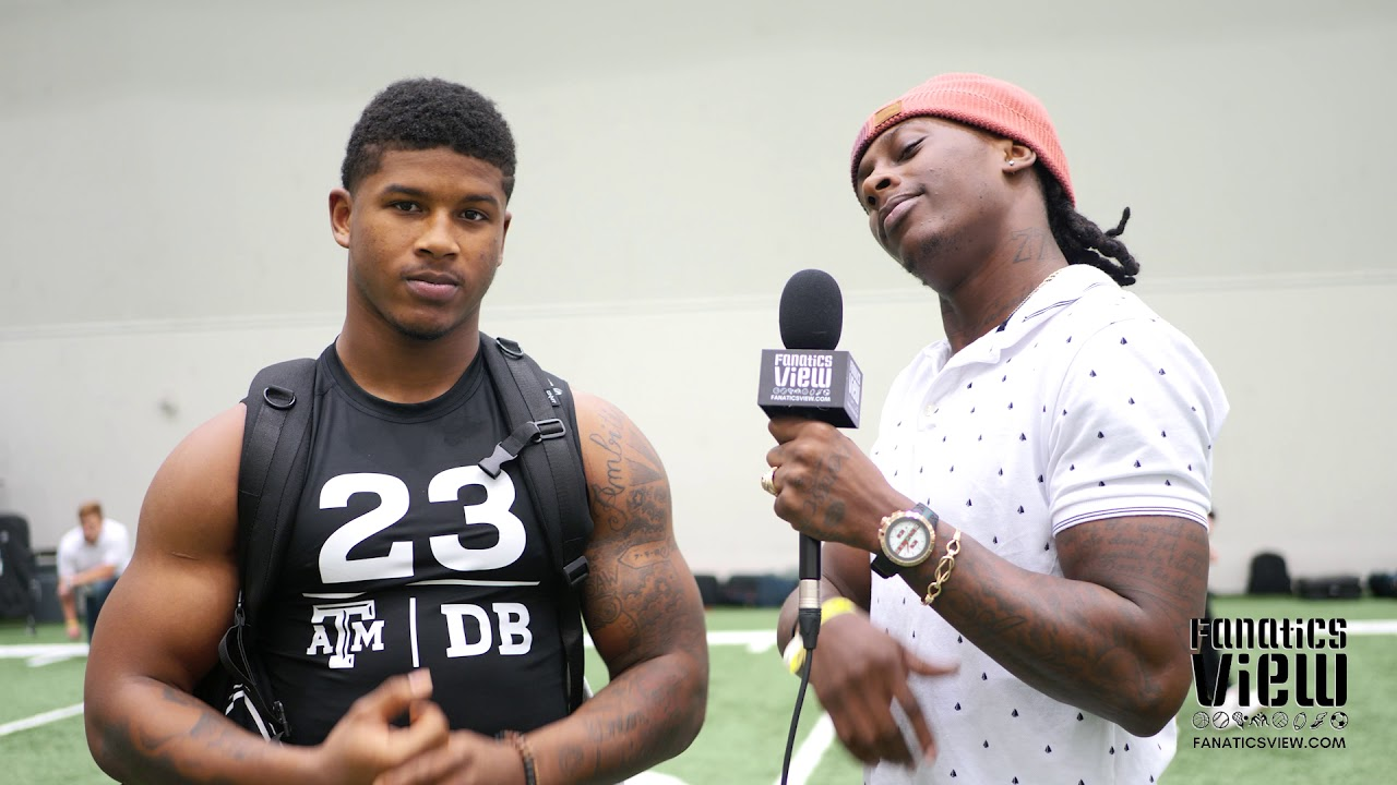 Armani Watts talks Texas A&M 2018 Pro Day with De'Vante Harris