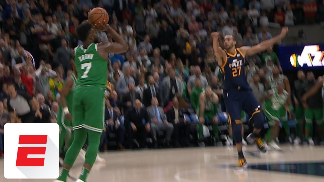Celtics' Jaylen Brown Hits Game Winning 3-Pointer vs. Jazz