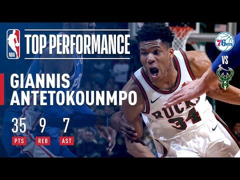 Giannis Antetokounmpo's 35 Points Help Bucks Comeback Against 76ers
