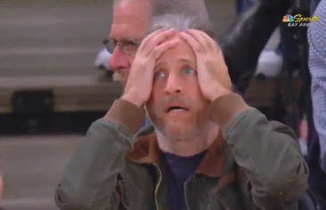 Jon Stewart can't believe JaVale McGee drained the jumper