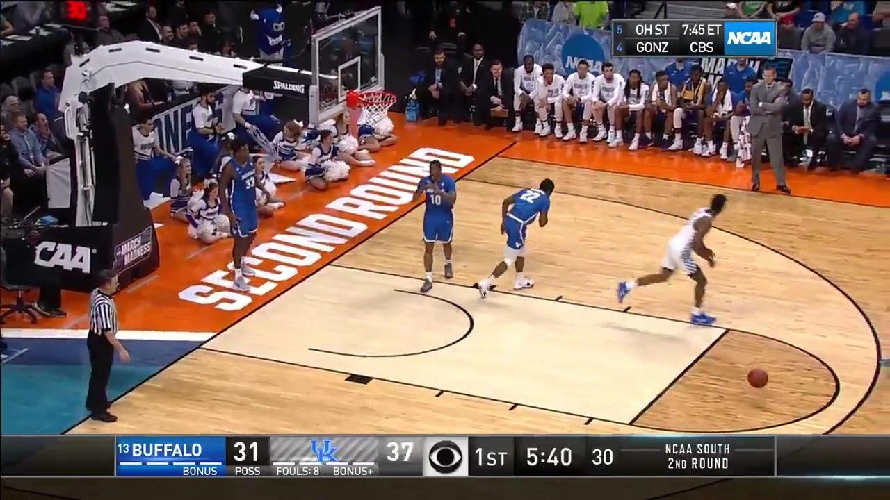 Kentucky freshman Hamidou Diallo climbs the ladder and stuffs one home