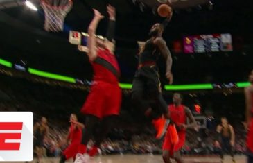 LeBron James ends Jusuf Nurkic's career with thunderous slam