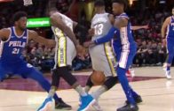 LeBron James shows off his handles with insane behind-the-back move