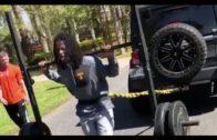 Saints star Alvin Kamara pulls Jeep in ridiculous offseason workout