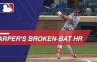 Bryce Harper goes yard on a bizarre broken-bat dinger
