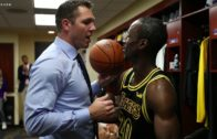 Lakers rookie Andre Ingram receives game ball after dazzling debut