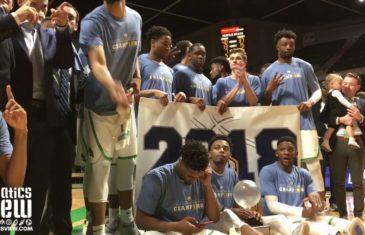North Texas celebrates their first CBI championship