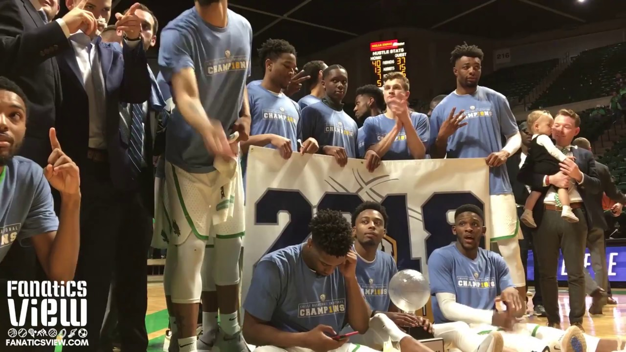 North Texas celebrates their first CBI championship