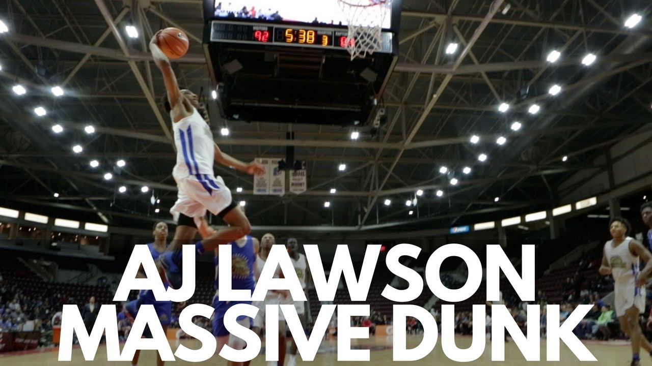 AJ Lawson Throws Down a Massive Dunk