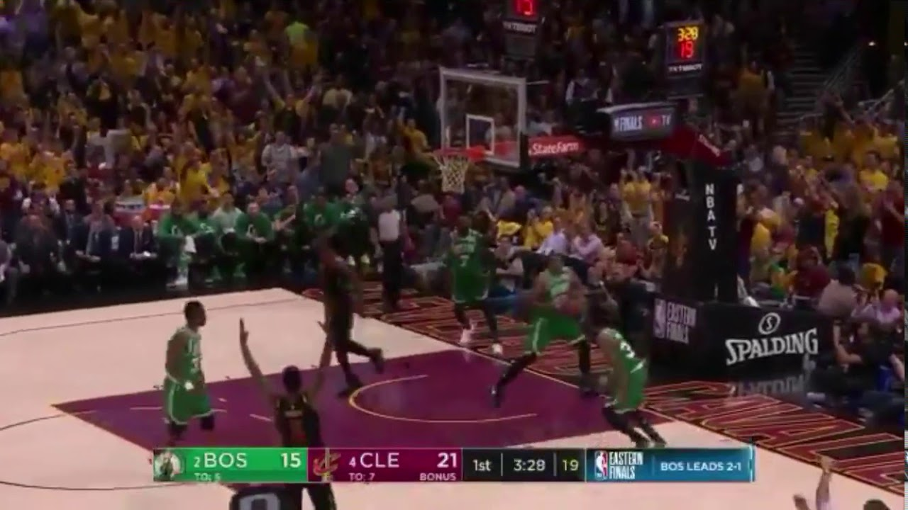 Kevin Love Launches Full Court Pass To LeBron James