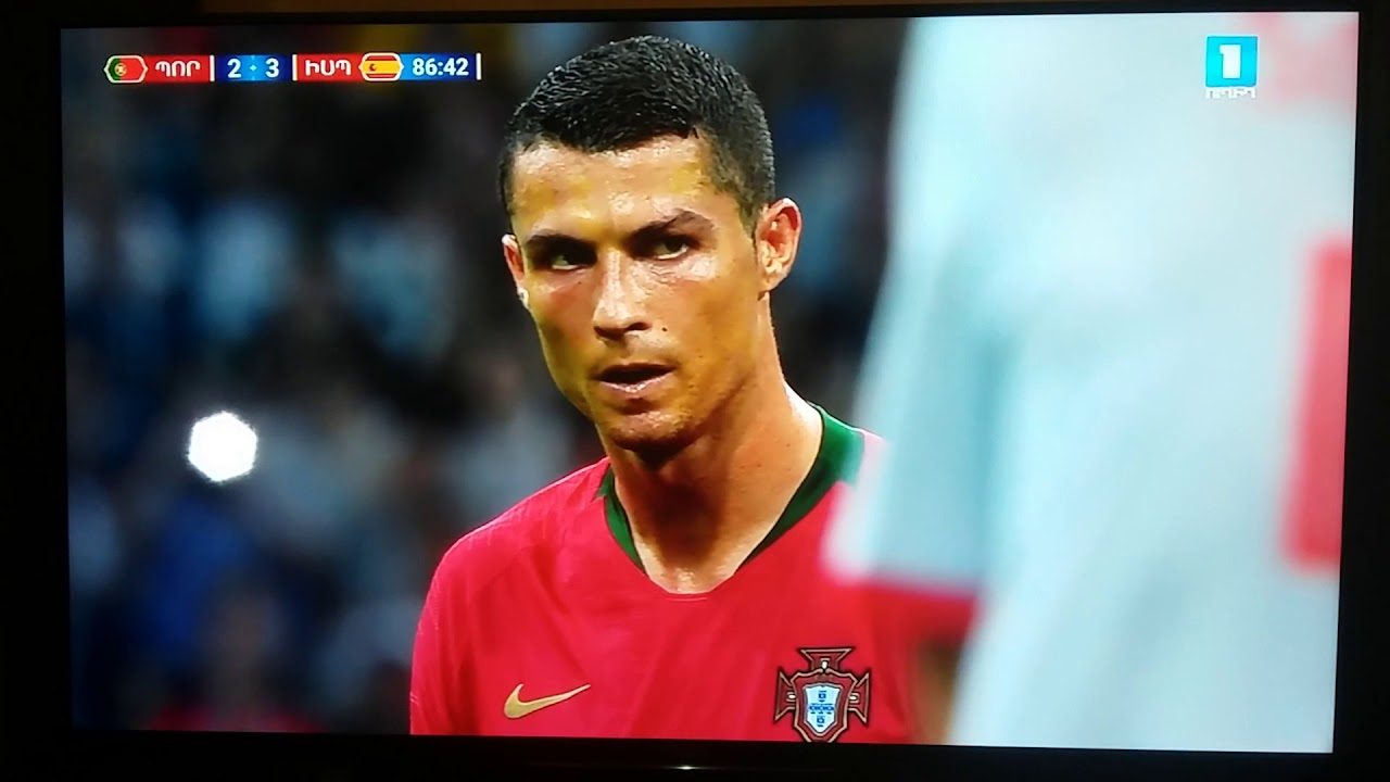 Cristiano Ronaldo Hat Trick Free Kick Goal Against Spain