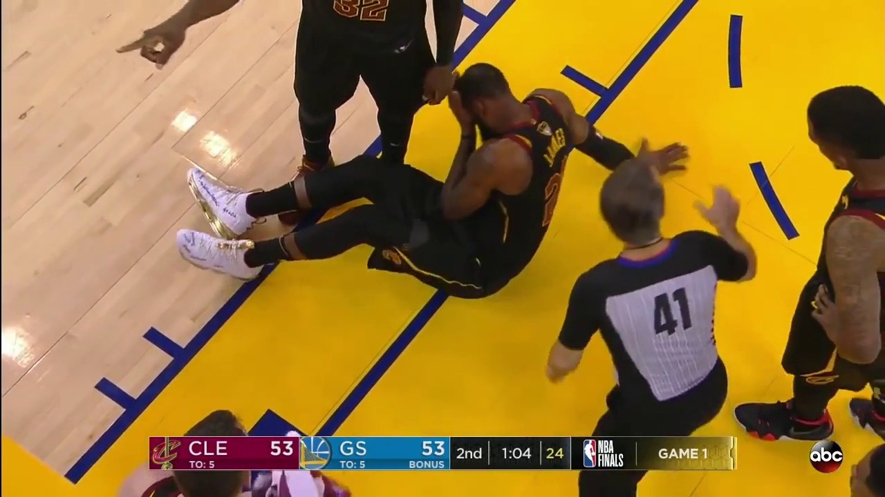 Draymond Green Pokes LeBron James In The Eye