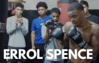 Errol Spence Jr. displays Powerful Body Shots on Heavy Bag