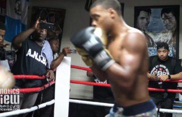 Errol Spence Mitt Training Ahead of Fight vs Ocampo