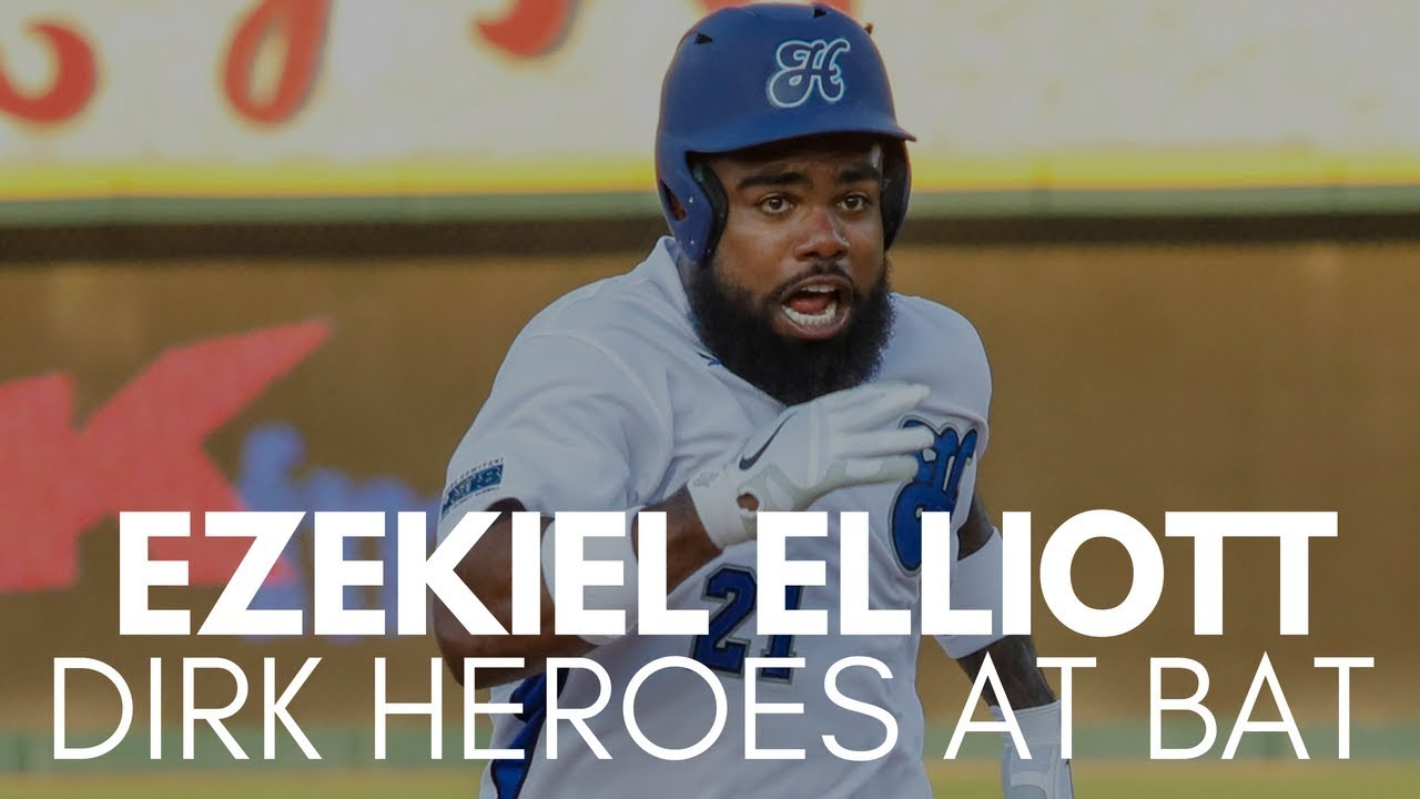Ezekiel Elliott hits Hard Hit Single at Dirk Heroes