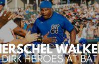 Herschel Walker Hits Double at Dirk's Heroes