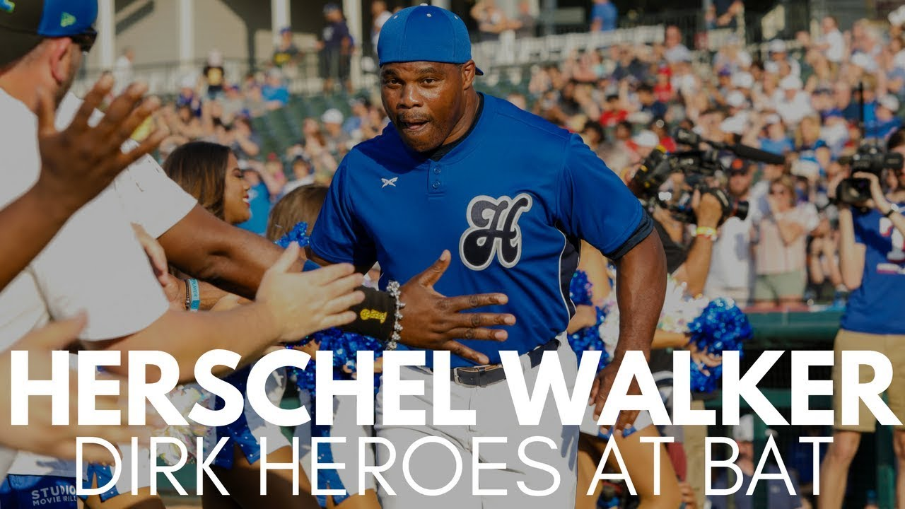 Herschel Walker Hits Double at Dirk's Heroes