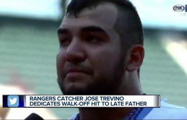 Jose Trevino's Memorable Fathers Day Walk-Off