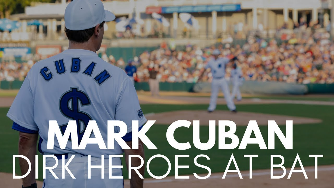 Mark Cuban reaches First Base with Single at Dirk's Heroes