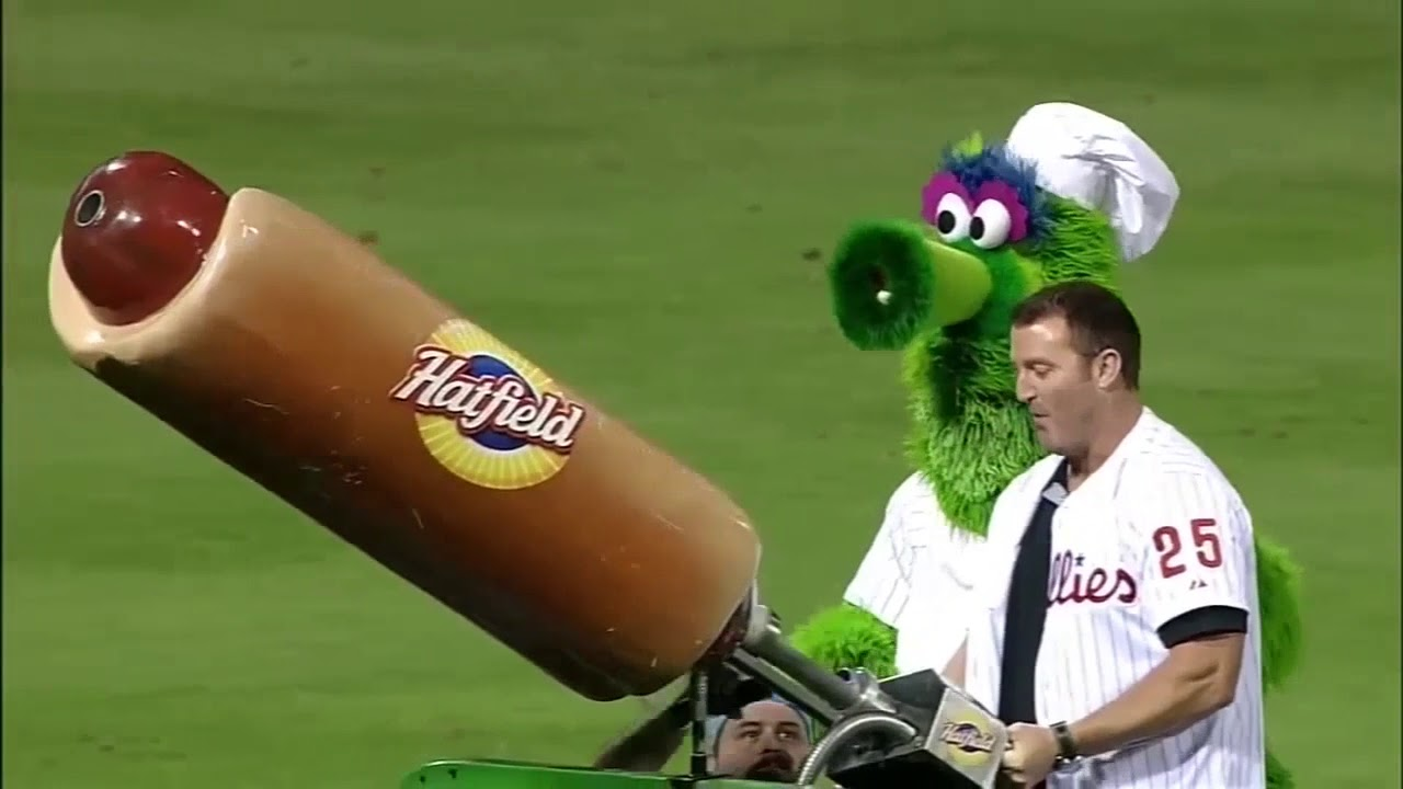 Phillies Fan Injured by Phanatic's Hot Dog Cannon