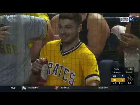 Pirates Fan Fails to Catch Foul Ball in His Beer