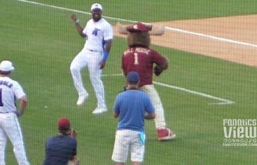 Von Miller Has Dance Battle With Mascot
