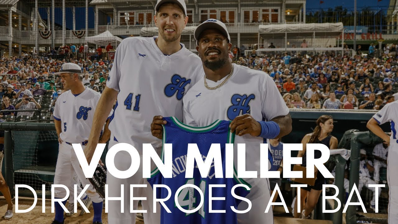 Von Miller Hits Popup for a Single at Dirk's Heroes