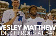 Wesley Matthews Hits Pop Fly