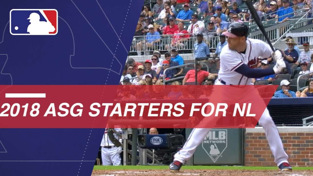 2018 National League ALL-STAR Starters Announced Sunday Night