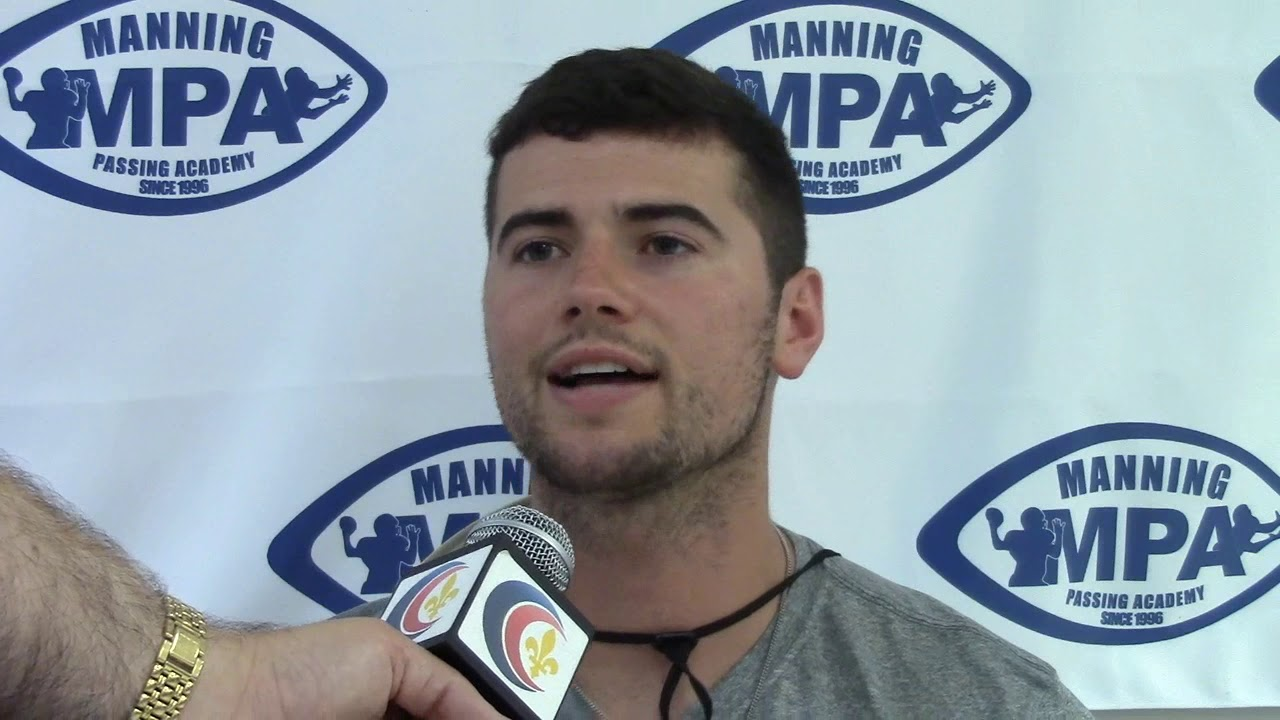 Auburn QB Jarrett Stidham at the Manning Passing Academy