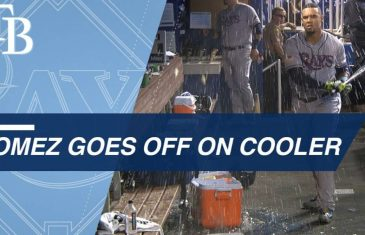 Carlos Gomez Destroys Water Cooler After Strickout