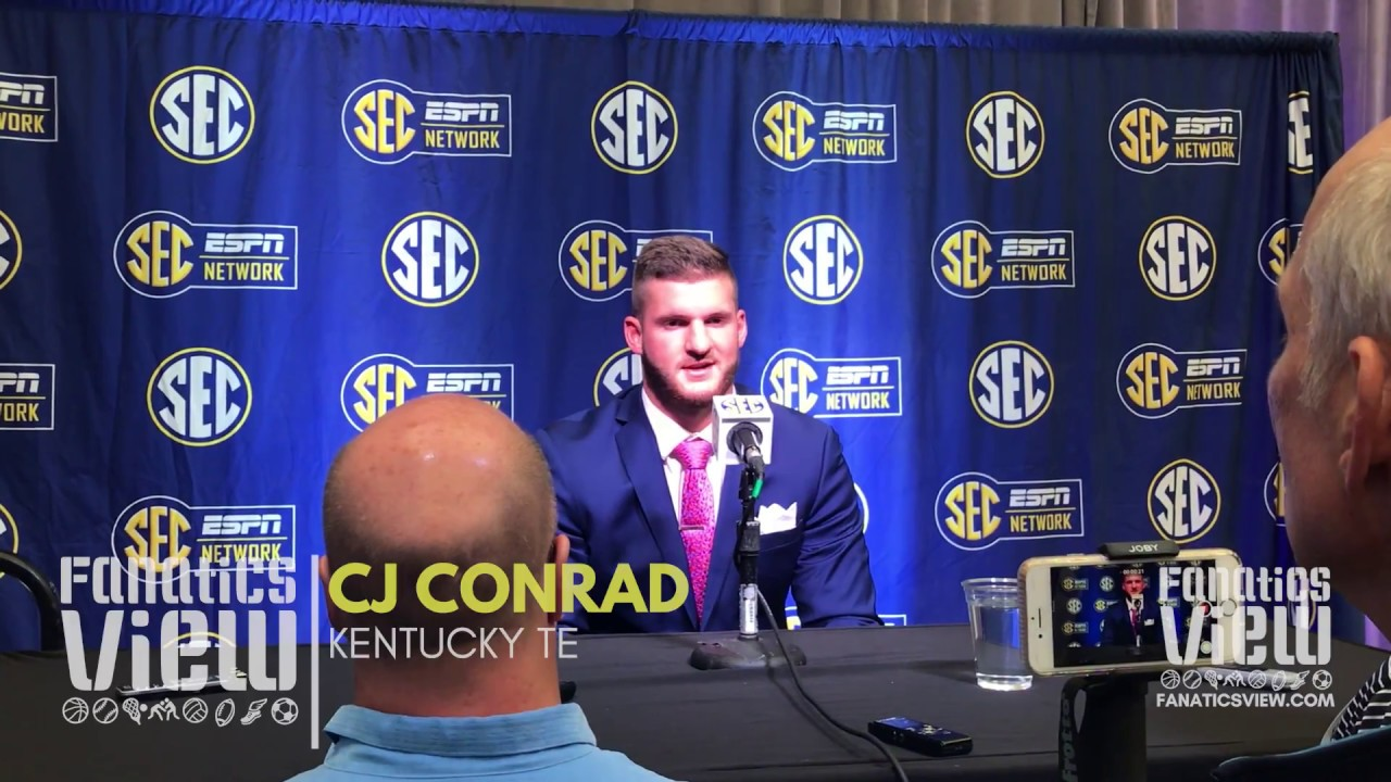 CJ Conrad at SEC Media Days