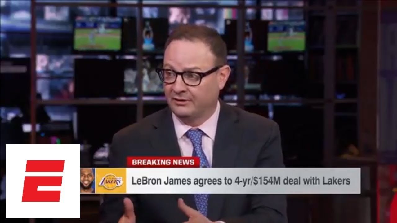 LeBron James signs with the Los Angeles Lakers