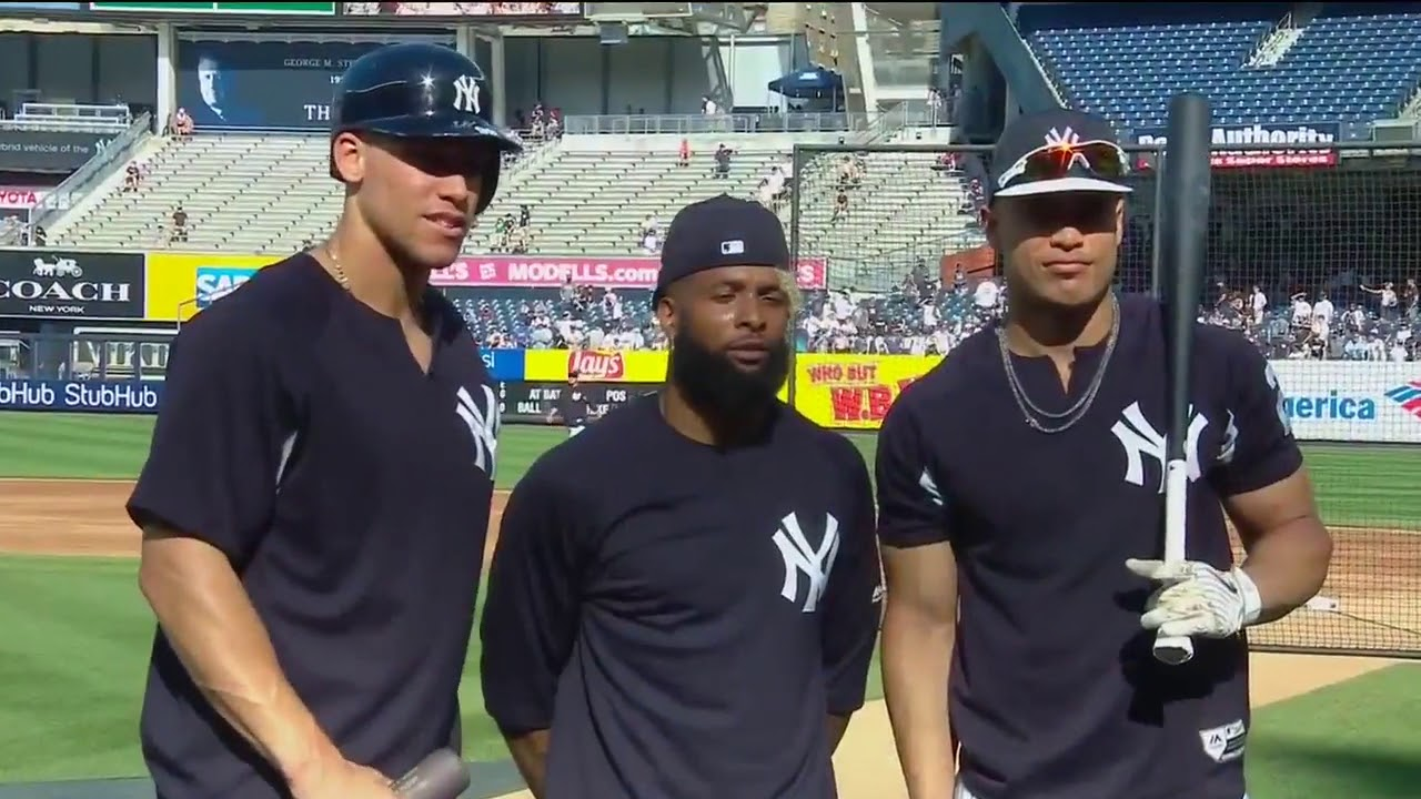 Odell Beckham Jr. Joins the Bronx Bombers for Batting Practice