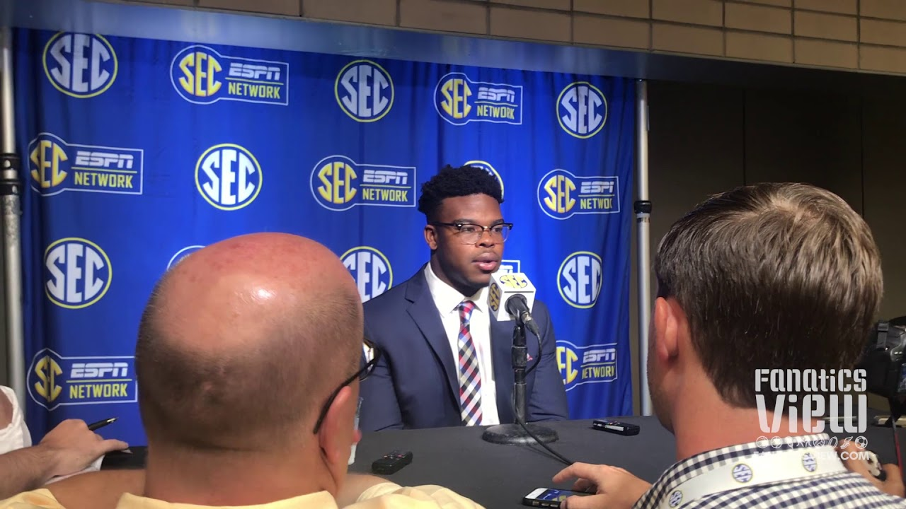 Damien Harris at SEC Media Days