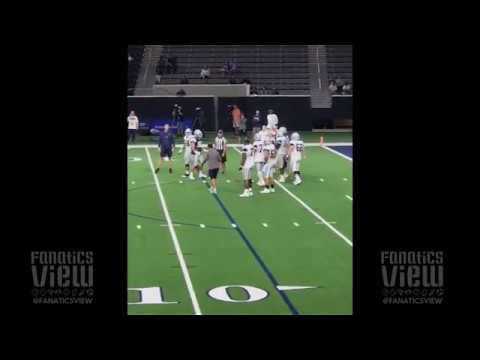 DeMarcus Lawrence Throws Haymaker at Practice