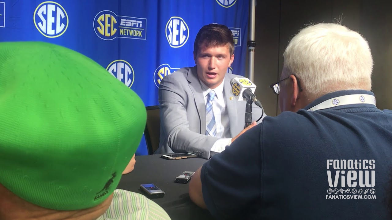 Drew Lock at SEC Media Days