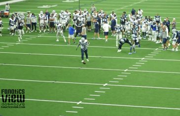 Jaylon Smith breaks up pass against Rod Smith