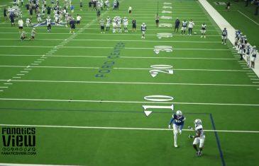 Lance Lenoir makes an outstanding 50-yard touchdown catch