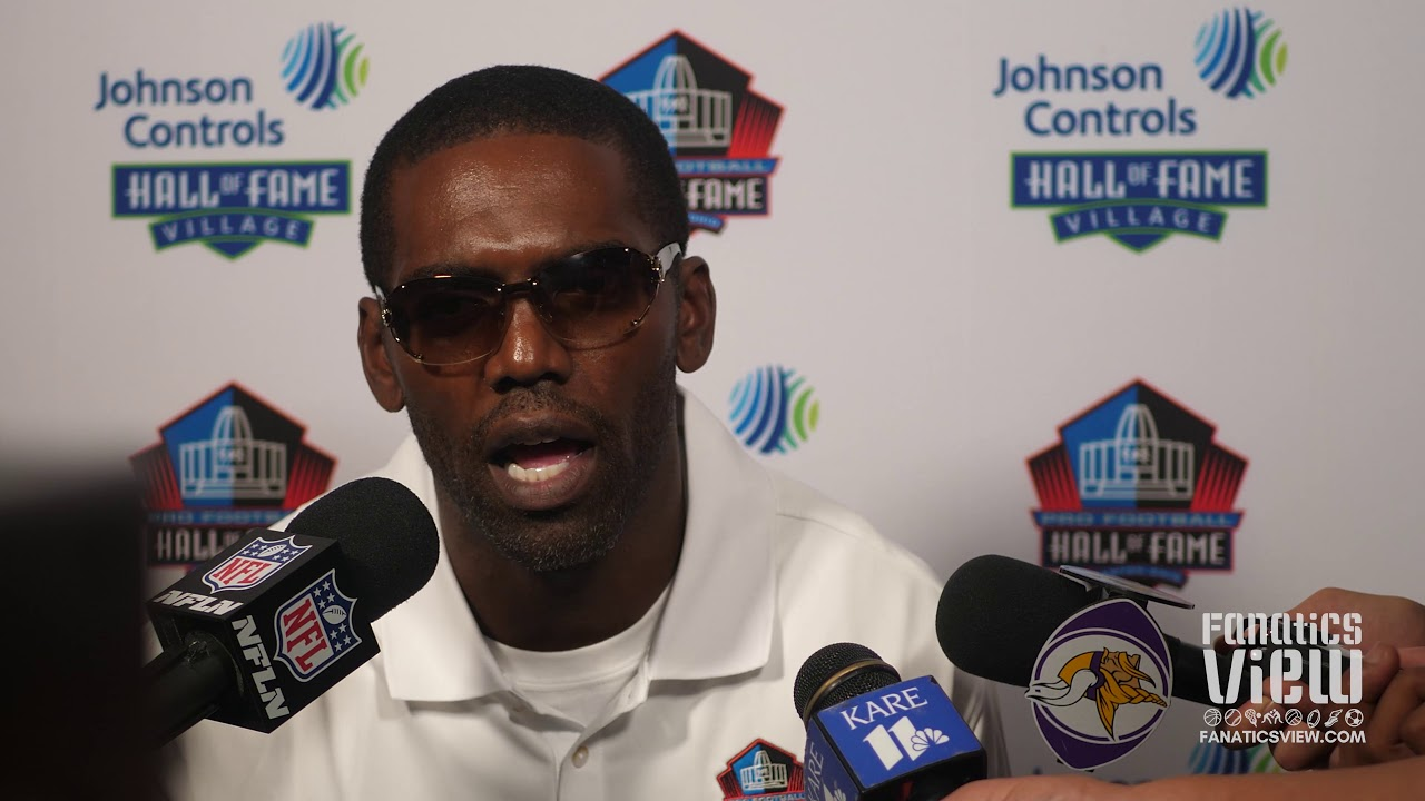 Randy Moss speaks on Hall of Fame Induction, Brian Urlacher, Vikings Career