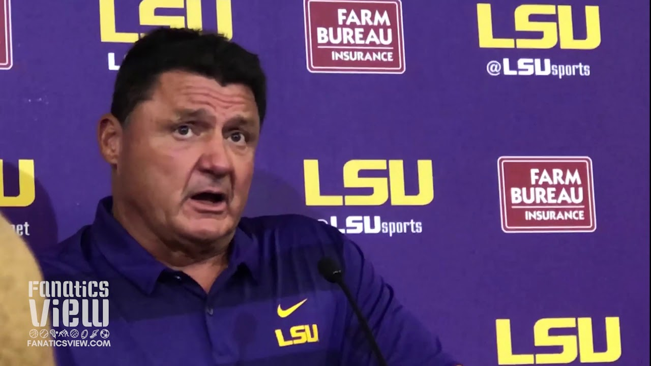 Ed Orgeron speaks on LSU's Offense, Joe Burrow, Beating SLU & Preparing for Auburn