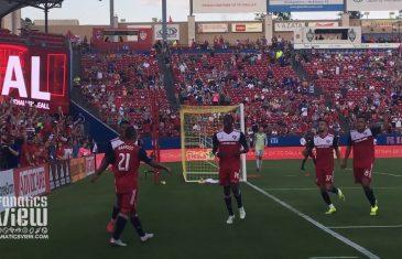 Michael Barrios Scores Goal for FC Dallas vs. Houston Dynamo