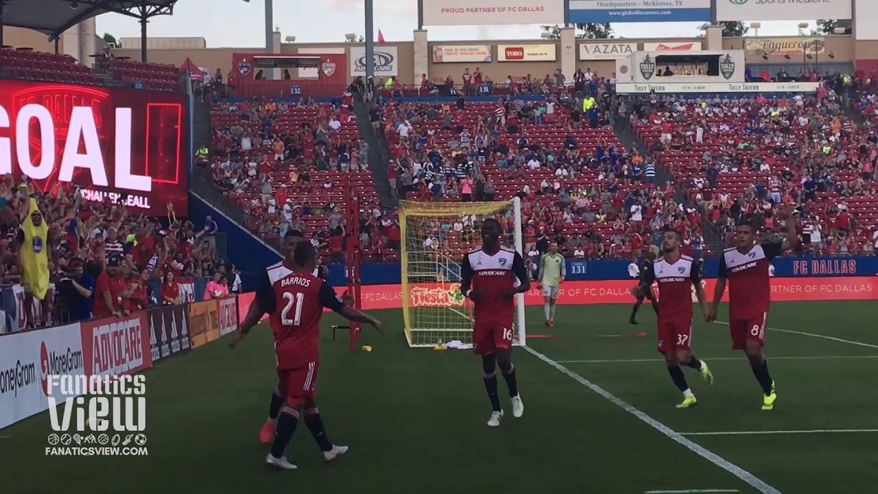 Michael Barrios Scores Goal for FC Dallas vs. Houston Dynamo