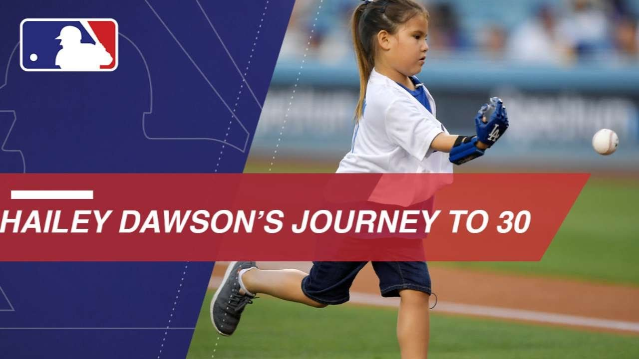 Hailey Dawson Throws Out First Pitch at Every Ballpark